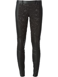 Faith Connexion Panelled Skinny Trousers Black