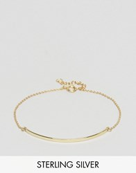 Asos Gold Plated Sterling Silver Fine Id Bracelet Gold Plated