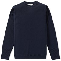 Our Legacy Splash Big Crew Knit Blue
