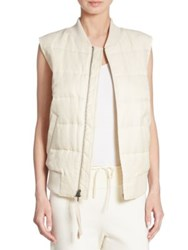 Vince Solid Quilted Vest Bleached
