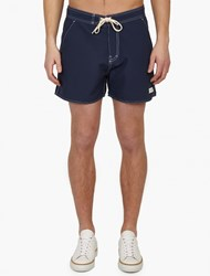 Saturdays Surf Nyc Blue Stitch Detail Curtis' Board Shorts Navy