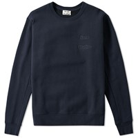 Acne Studios Corben Debossed Logo Crew Sweat Blue