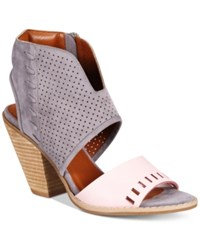Mojo Moxy Dolce By Mookie Perforated Sandals Women's Shoes Gray Pink