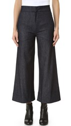 Victoria Beckham Cropped Super Wide Jeans Raw