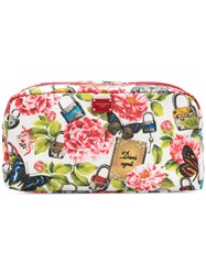 Dolce And Gabbana Natural Life Print Make Up Bag Multicolour