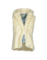 Met Coats And Jackets Faux Furs Ivory