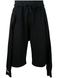 Ktz Side Panel Shorts Men Cotton M Black