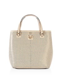 Karen Millen Perforated Mini Tote Nude