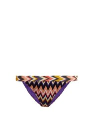 Missoni Mare Zigzag Knit Bikini Briefs Multi