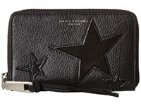 Marc Jacobs Star Patchwork Zip Phone Wristlet Black Multi Wristlet Handbags