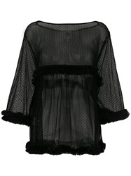 I'm Isola Marras Sheer Point D'esprit Blouse Black
