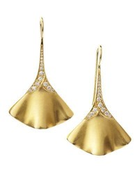 Penny Preville Fluted Pave Diamond Gold Earrings