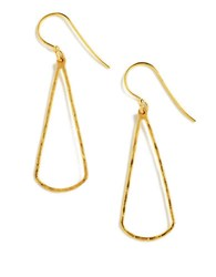 Lord And Taylor 18 Kt Gold Over Sterling Silver Open Teardrop Drop Earrings