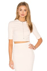 Twenty Honeycomb Stretch Crop Top Blush