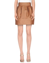 Elisabetta Franchi Skirts Mini Skirts Women Copper