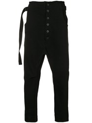 The Viridi Anne Drop Crotch Trousers Black
