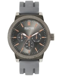 Kenneth Cole Reaction Men's Gray Silicone Strap Watch 48Mm 10031943