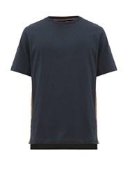 Paul Smith Side Striped Cotton T Shirt Navy