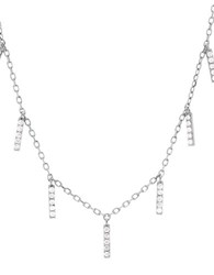 Lord And Taylor Cubic Zirconia Sterling Silver Chain Necklace