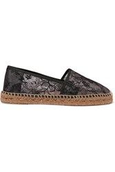 Dolce And Gabbana Lace Espadrilles Lilac