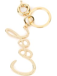 Lanvin Cool Key Ring Metallic