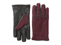 Scotch And Soda Woolen Leather Gloves Red Rock Melange Wool Gloves Brown