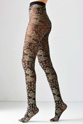 Out From Under Baroque Burnout Tight Black Multi