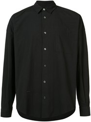 Robert Geller Plain Shirt Men Cotton 50 Black