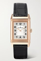 Jaeger Lecoultre Reverso Classic Small 21Mm Rose Gold And Alligator Watch One Size