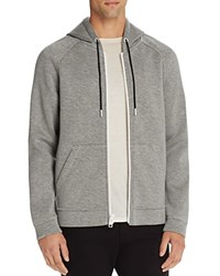 Alexander Wang T By Raglan Sleeve Zip Hoodie Sweatshirt Heather Gray
