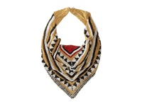 Gypsy Soule Tribal Beaded Collar Scarf Necklace Tan Black White Red Necklace Yellow