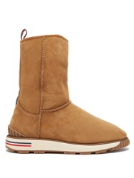 Moncler Gaby Shearling Lined Boot Tan