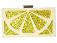 Alice Olivia Cindy Lemon Clutch Yellow Handbags