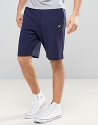 Lyle And Scott Sweat Shorts Regular Fit Eagle Logo In Navy Navy