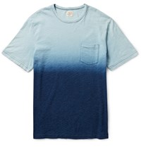 Faherty Degrade Cotton Jersey T Shirt Blue