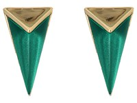 Alexis Bittar Faceted Pyramid Post Earrings Jungle Green