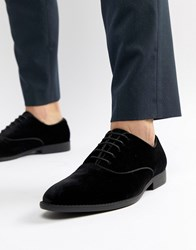 Asos Design Lace Up Dress Shoe In Black Velvet