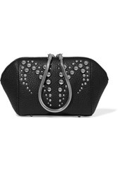 Alexander Wang Chastity Studded Textured Leather Cosmetics Case Black