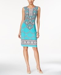 Jm Collection Sleeveless Printed Dress Only At Macy's Urban Aqua