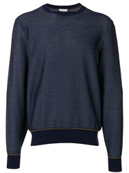 Brioni Crew Neck Jumper Blue