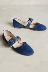 Anthropologie Lisa Conti D'orsay Mary Janes Navy