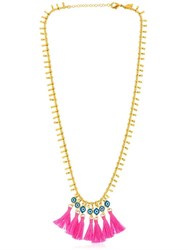 Chanael K Evil Eye Tassel Necklace
