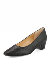 Neiman Marcus Aniko Ridged Leather Pump Black