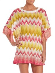Missoni Mare Fringe Tunic Yellow