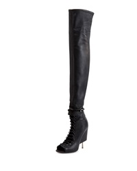 Open Toe Stiletto Wedge Over The Knee Boot Givenchy
