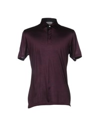 Gran Sasso Polo Shirts Deep Purple