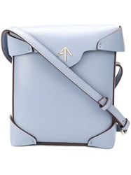 Manu Atelier Mini Pristine Crossbody Bag Blue