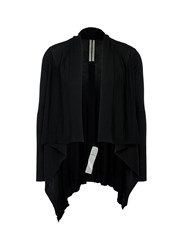 Rick Owens Virgin Wool Cropped Cardigan Black