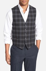 Men's Wallin And Bros. Trim Fit Check Cotton Blend Vest