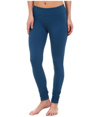 Beyond Yoga Gathered Long Leggings Mosaic Blue Women's Casual Pants